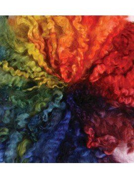 Rainbow Dyed English Leicester 400gm