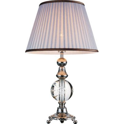 "Crystal World 26"" H Table Lamp with Empire Shade"