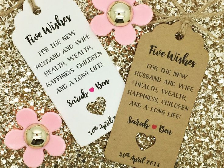 Gift Tag for Sugared Almond Wedding Favour Poem - Traditional Italian Favours