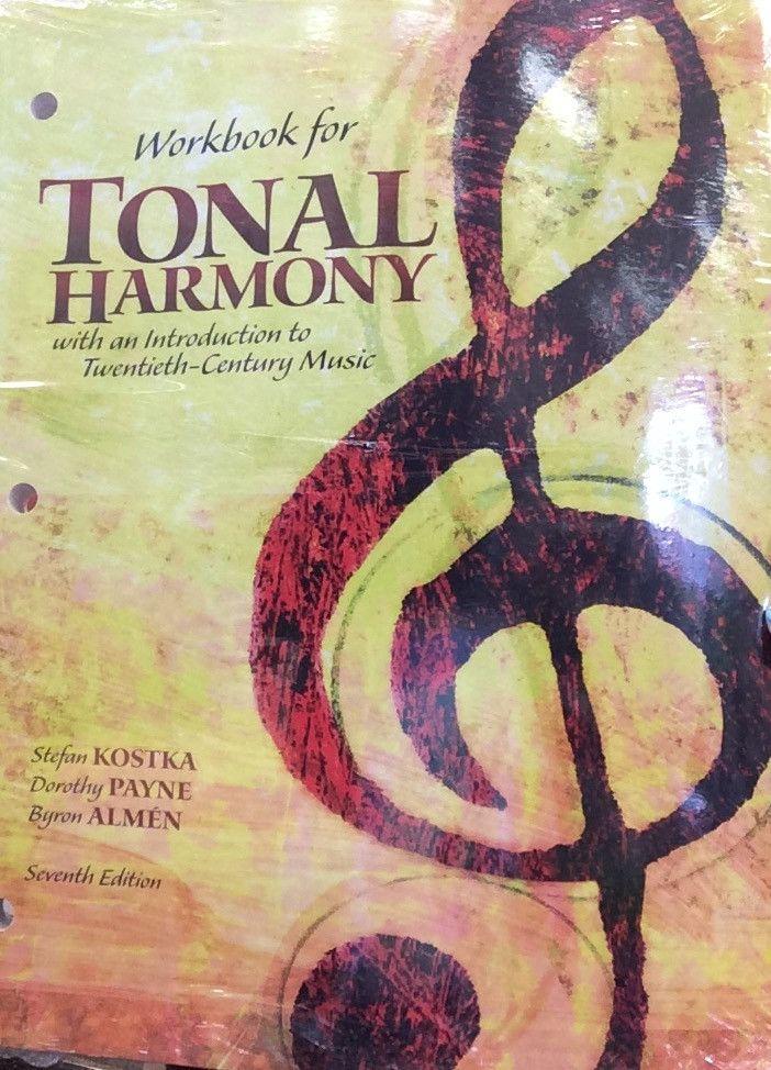 Tonal Harmony Workbook, bound, 7ed