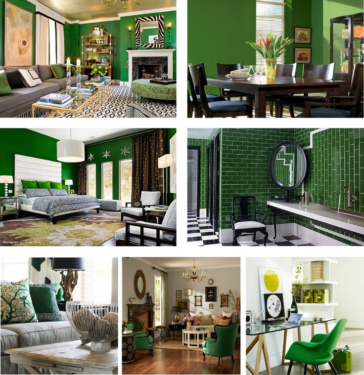 i love the color of the bedroom walls and pillows - Green Bedroom Design