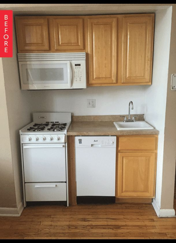 Before & After: A Teeny Kitchen is Transformed on a Tiny ...