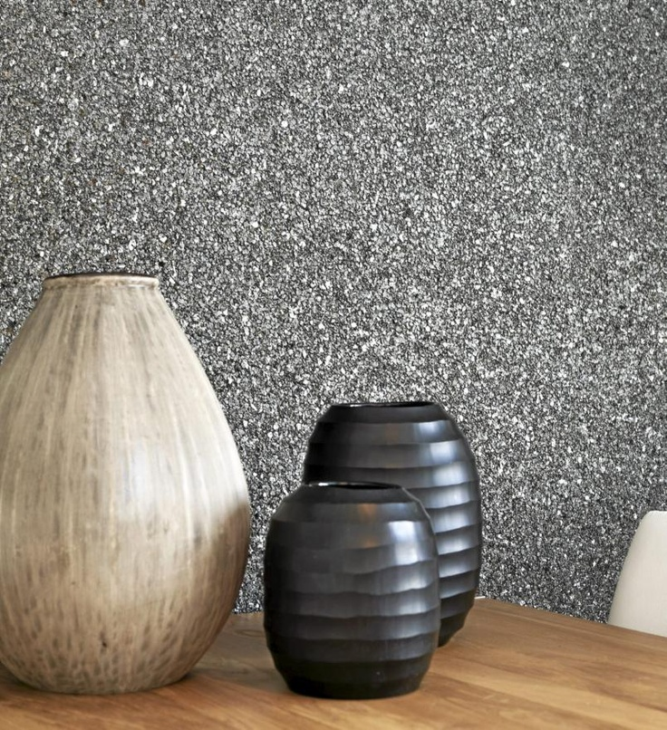 Omexco wallpaper, small shimmering stones on a textured surface