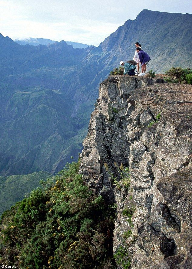 Reunion Island: Cirque de Malfate from the peak of Reunion's Piton Meido