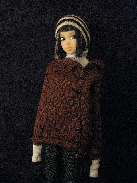 Momoko in Jiajia button sweater | Flickr - Photo Sharing!