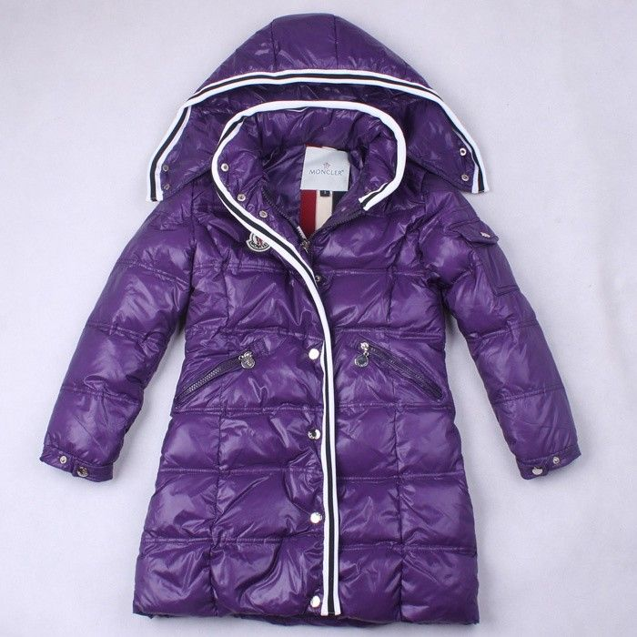 Moncler Little Girl Quancy Long Jacket in Purple [2900312] - £139.69 :