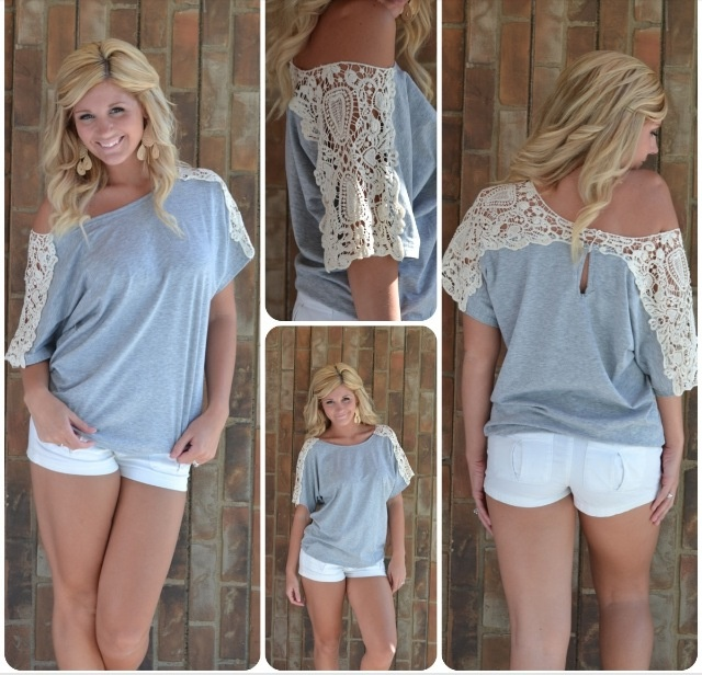 """Lace shirt"" so cute! Love it!! Country fashion"