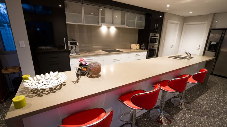 Contemporary Kitchen, Polished concrete floors