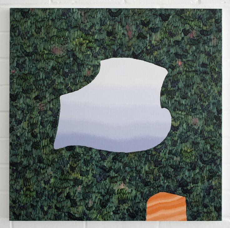 Amber Wilson, Lagoon, 2012, oil on canvas, 600 x 600mm