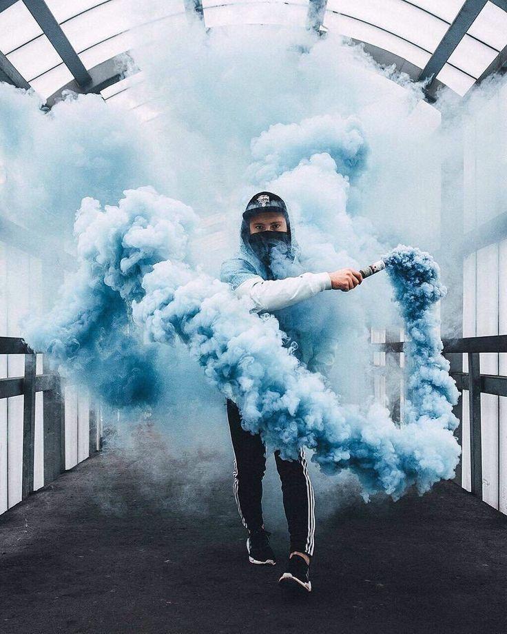 Картинки человека с дымом