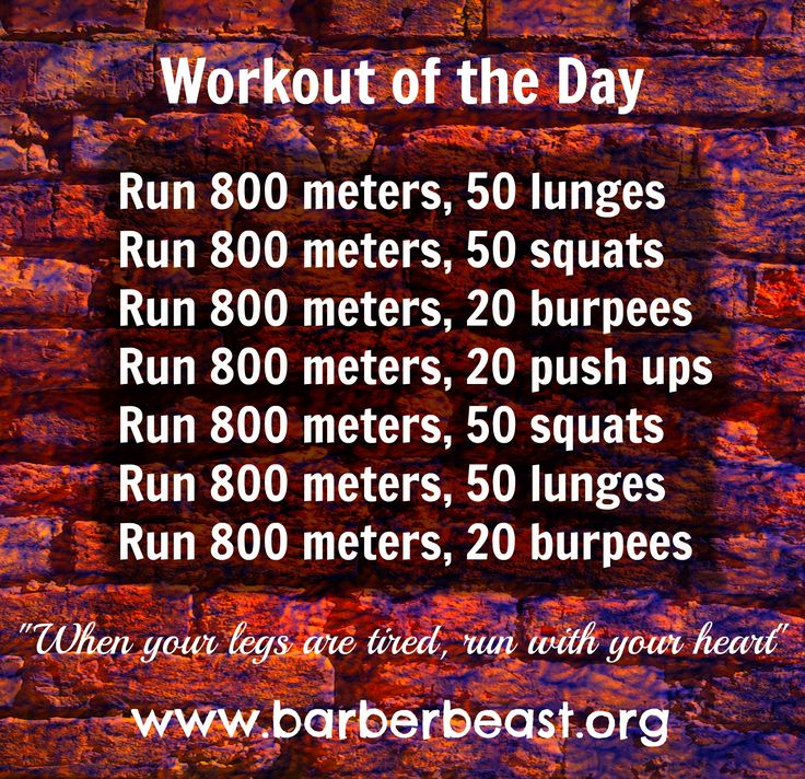 #Workout of the day - Running workout. Great workout to do at the track. A new year, a new you! 3.5 totals miles, 100 lunges, 100 squats, 40 burpees and 20 push ups www.barberbeast.org