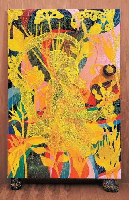 Chris Ofili, 'Mono Amarillo' (1999-2002)