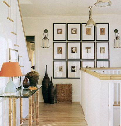 Cool framing for a gallery wall.