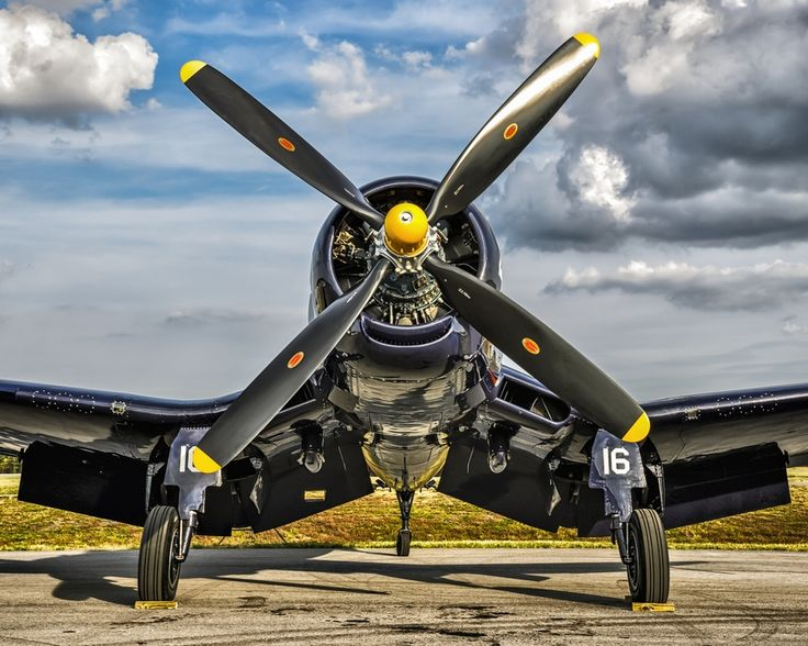 The Business End  by Chris Buff, via 500px  An F4U-4, notice the air-intake at the bottom of the engine cowling.