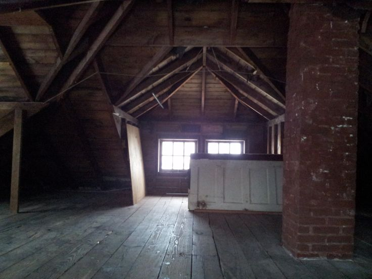 Foursquare Attic Finished | The attic comes complete with subfloor, bonus doors (?) and a chimney ...