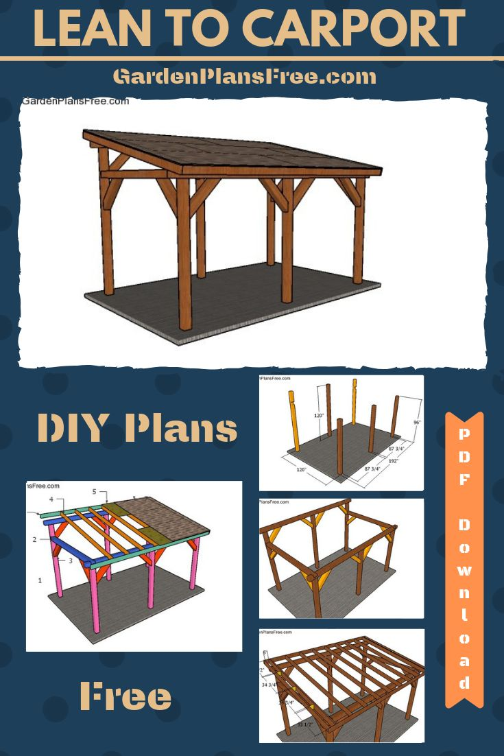 Pin on Wooden Carport Plans