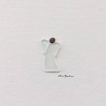 Original Engel Pebble Art 5 von 5 Mini ungerahmt Kiesel Bild