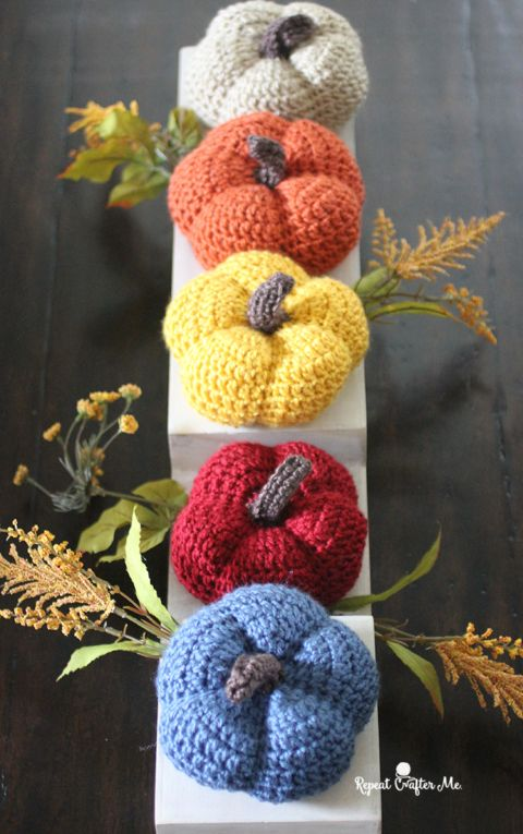 Caron Harvest Crochet Pumpkins | Crochet- Other | Pinterest | Flores ...