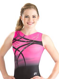 Pink rhythm sublimated leotard by GK Elite - Love!