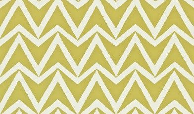 Dhurrie (110449) - Scion Wallpapers - A simple chevron with a textured edge. Shown here in olive green colouring - more colours are available. Please request a sample for true colour match. Paste-the-wall product. Actual pattern repeat is 10.2cm.