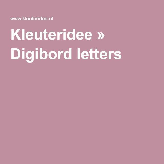 Kleuteridee » Digibord letters
