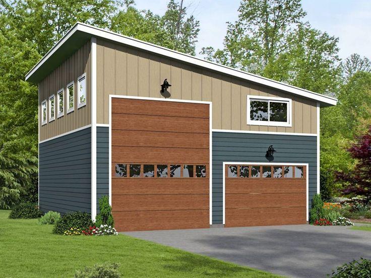 062g 0169 Modern Garage Plan With Loft Offers Rv Bay And Tandem Bay Garage Plans With Loft Rv Garage Plans Garage Plan