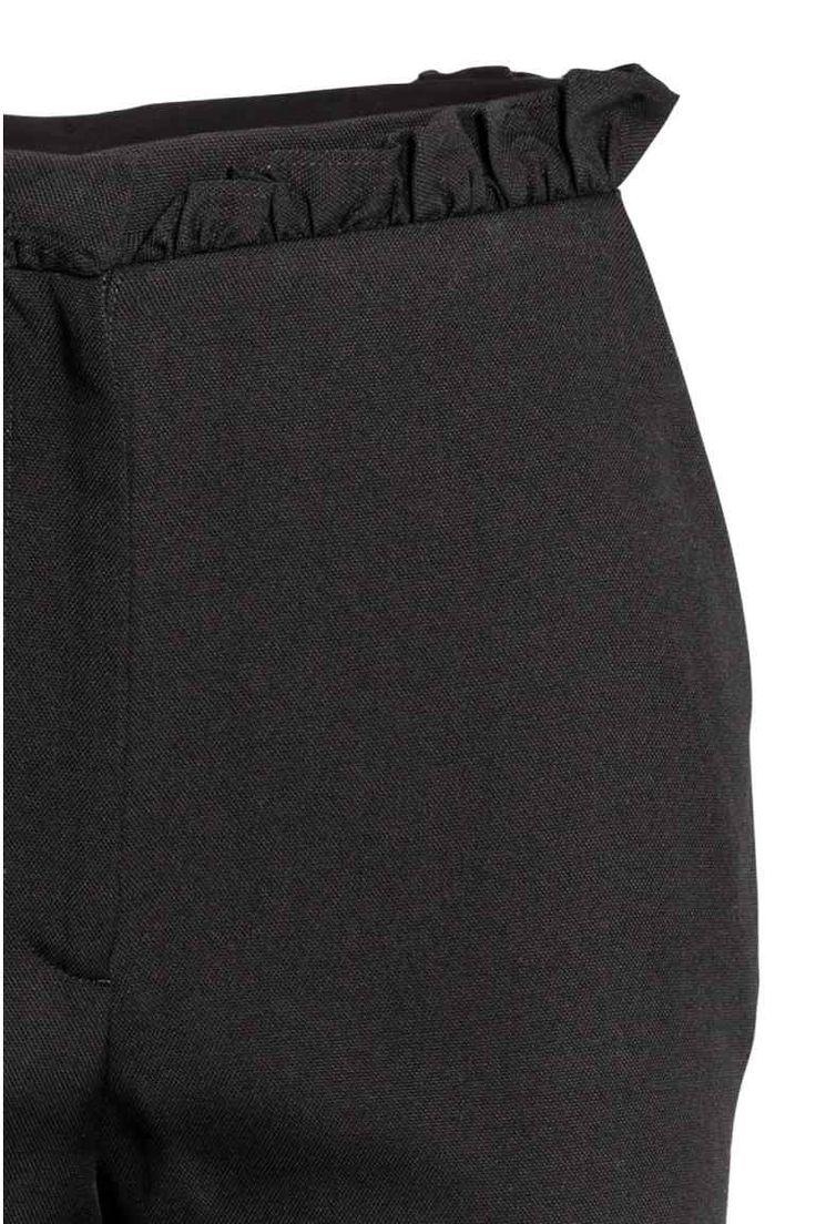 Pantaloni con volant - Nero - DONNA | H&M IT