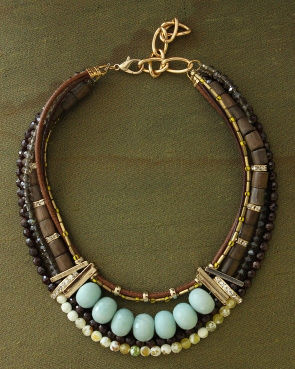 Charlotte Hosten - I like how she uses such different beads and connectors to create a really pretty necklace.
