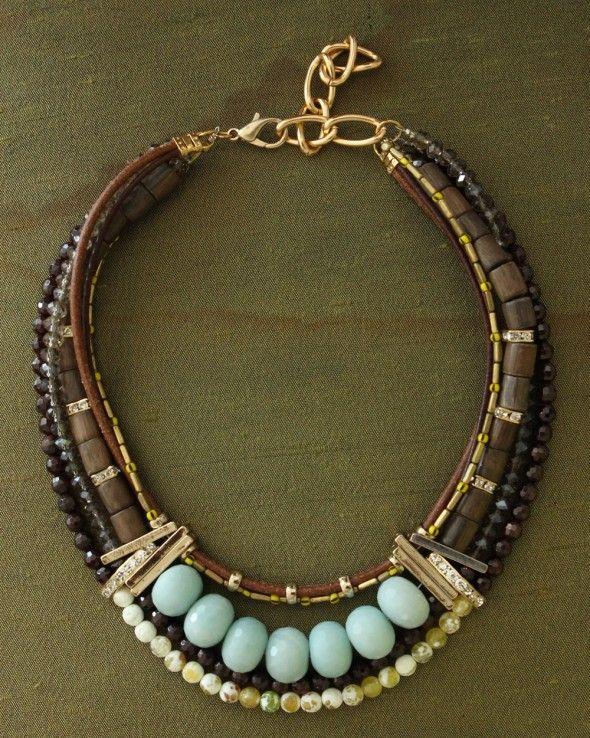 www.cewax.fr love this statement necklace ethno tendance, style ethnique, #Africanfashion, #ethnicjewelry - CéWax aussi fait des bijoux : http://www.alittlemarket.com/collier/fr_collier_plastron_multi_rang_ethnique_en_tissu_africain_beige_prune_jaune_-15921837.html -  Charlotte Hosten