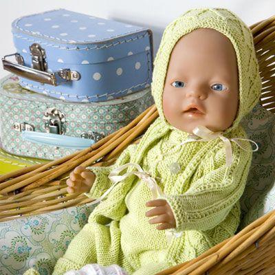 Grønt strik til babyborn
