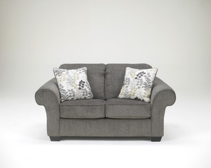 Makonnen   Charcoal Loveseat With Large Rolled Arms And Coil Seating By  Signature Design By Ashley At Walkeru0027s Furniture Part 47