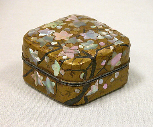 Incense box  Attributed to Ogata Kôrin  (Japanese, 1658–1716)  Period: Edo period (1615–1868) Date: 18th century Culture: Japan Medium: Lacquer