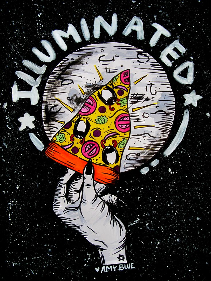 ILLUMINATED BY AMY BLUE PIZZA
