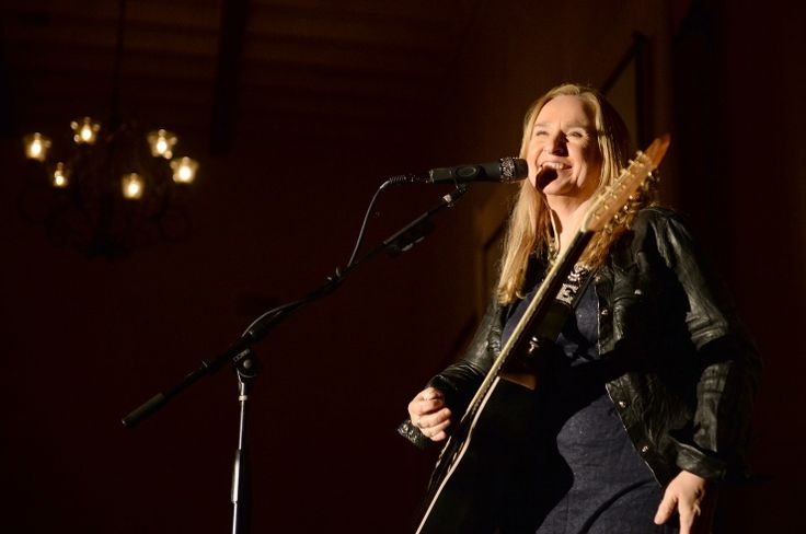 From Brave And Crazy to brave and happy, Melissa Etheridge can't contain herself during a performance at the 2013 Go Go Gala on Nov. 14 in Pacific Palisades, Calif.: Course, Musical Sensations, 2013, Hot Sheet, Gay, Pacific Palisades, December 20