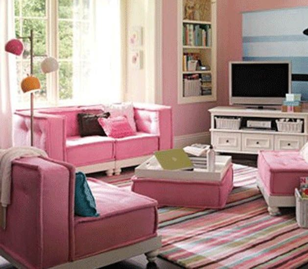 Cute Pink Living Room Decorating Ideas Living Room Ideas