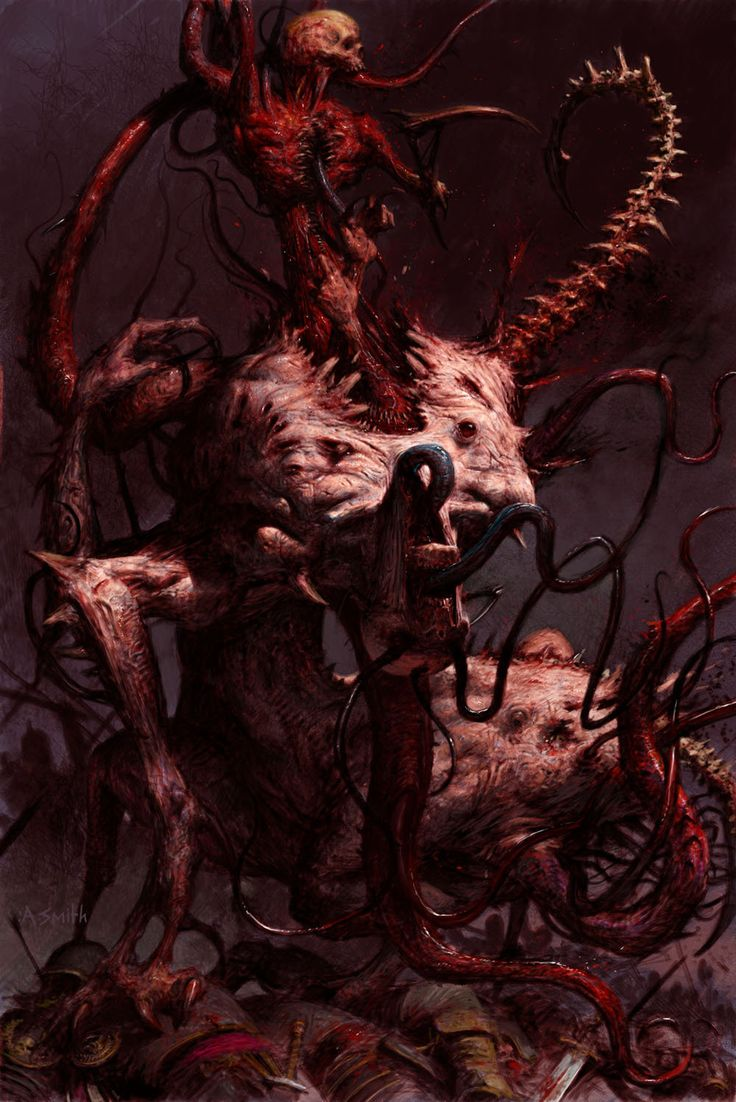 ArtStation - art for games workshop publication 'warriors of chaos'- spawn, adrian smith
