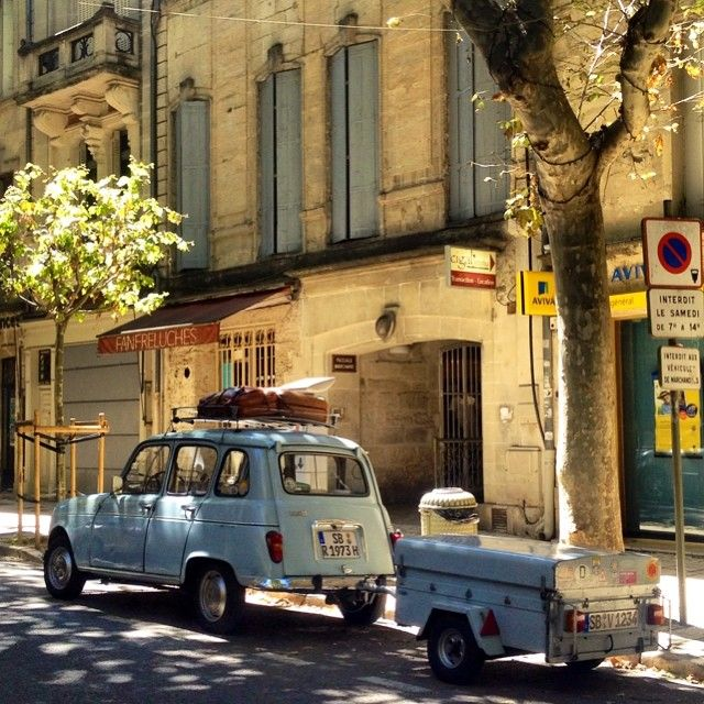 Renault 4 with Trailer