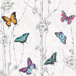 Fresco Flutter Forest Multicoloured Wallpaper
