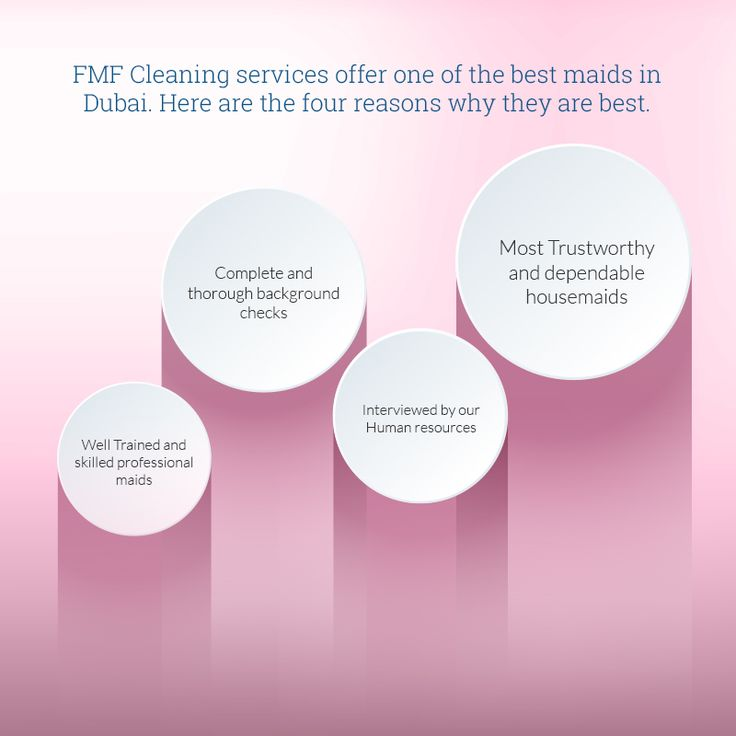 FMF Maids is one of the leading maid agencies in Dubai offering extensive cleaning and maid services at very reasonable prices.   http://www.fmfmaids.com/