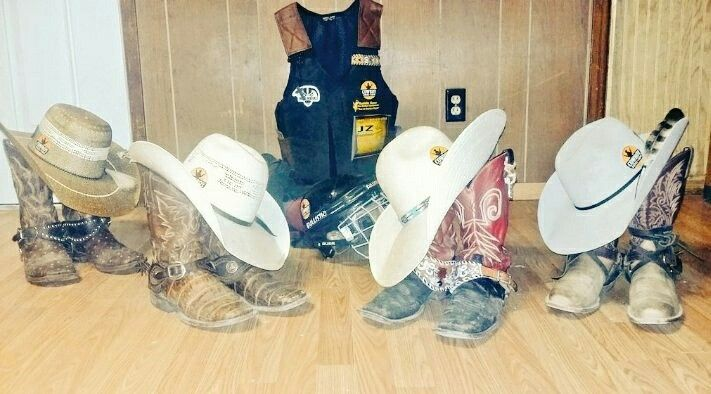 The Beauty of Rodeo Bull Riding Gear Boots Spurs Hats Vest Let's ride! By Rider Jerri Gomez Team Cowboy Coffee Chew