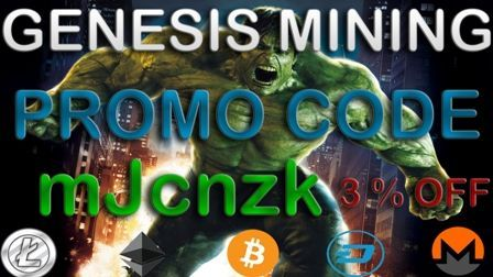 """Now use Genesis Mining PromoCode """"mJcnzk"""" and save 3% on all your purchases ( Bitcoin – Dash –Litecoin – Ethereum – Monero - Zcach ) and feel free to visit our website https://miningdiscounts.com to get all the information you need about best cloud mining companies ( News - Contracts – Profitability – Prices – ROI– Break Even - Promo Codes - Comparisons ) .  Visit https://www.facebook.com/genesisminingpromocode201/"""