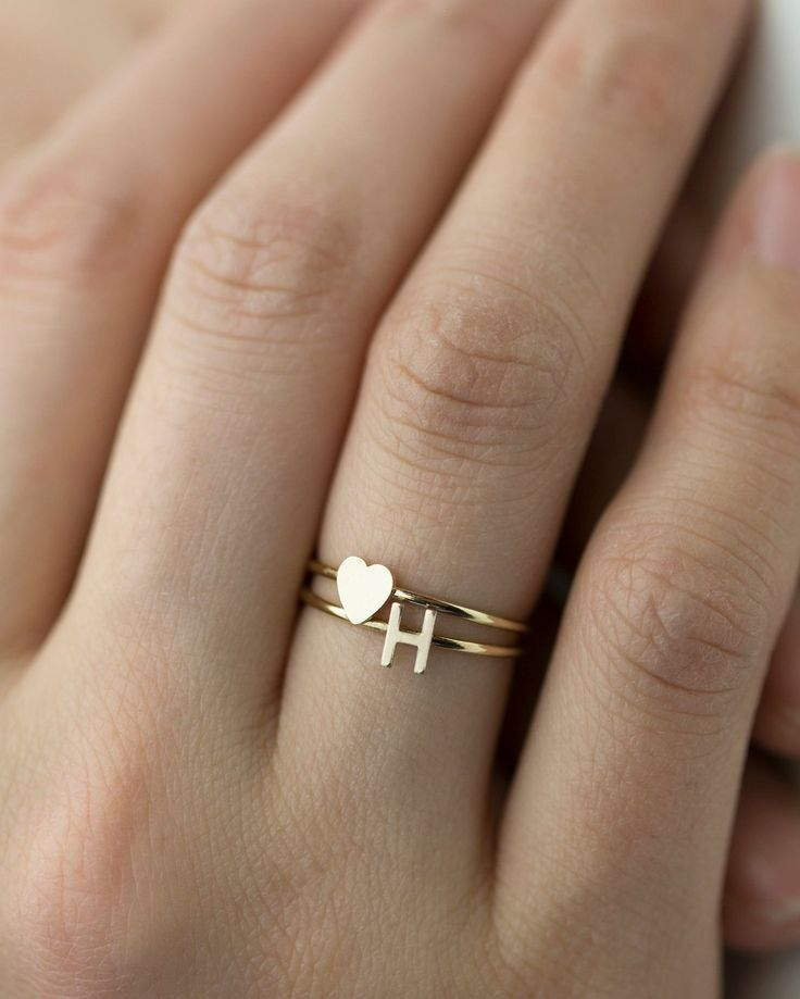 Sterling Silver Gold Plated 3 pc Ring Set for Women Minimalist Jewelry