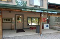 Falls Creek General Store - Mountain Glen RV Park & Campground-Ice Firewood RV/Camping Supplies Propane Exchange Ice Cream Soda Laundry/Bathroom Automotive Gifts