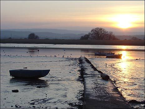 View of the River Exe from The Strand at Topsham.