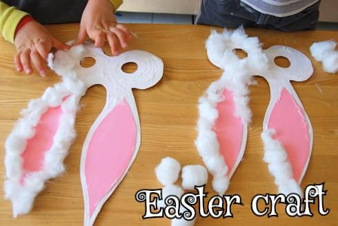 Easter craft — Bunny Masks