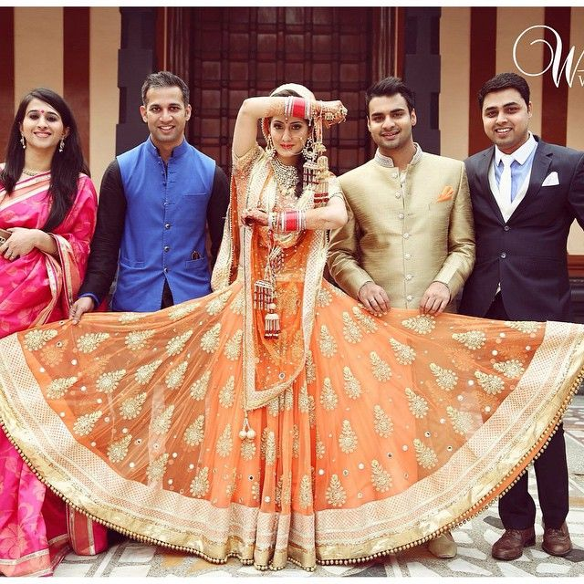 Now that's a family photo- u, your mains and your oh so lovely lehenga!