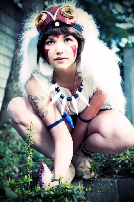 Princesse Mononoké cosplay.