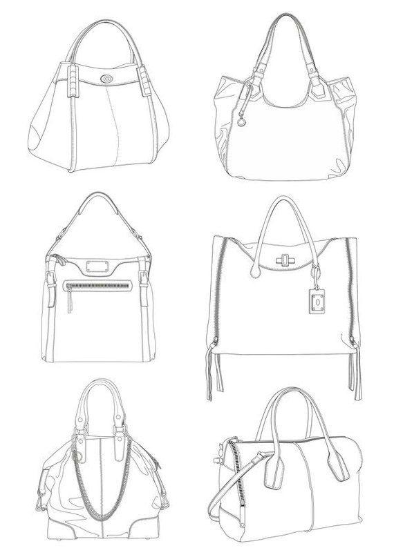 39 best bag sketches images on Pinterest | Sketches, Bag ...