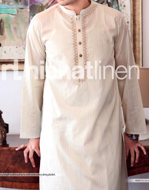 eid fashion naqsh by nishat linen collection 2013 for men Fancy Gents Eid Kurta Design Collection 2013 For Boys & Mens