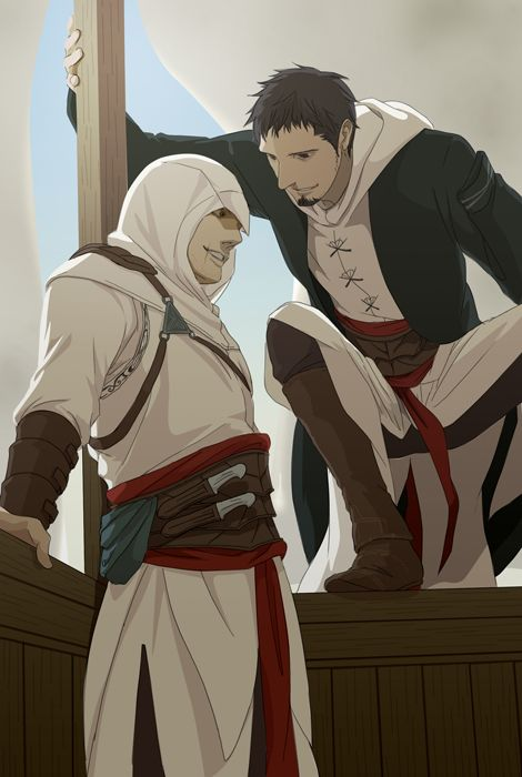 found you by doubleleaf.deviantart.com #fanart Assassin's Creed - Altair and Malik